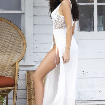 Mapale 7897 Cover Up & Beach Dress Color Ivory