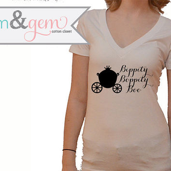 "Disney's Cinderella Shirt ""Bippity Boppity Boo"" with Carriage // Disney Cinderella Movie Shirt // Disney Lover Shirt // Cinderella Shirt"