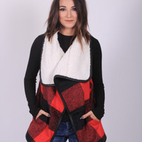 See Me Now Plaid Vest