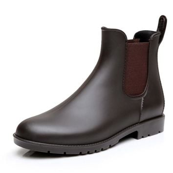 New Woman Chelsea Ankle Non-slip Waterproof Breathable Casual Rain Boots