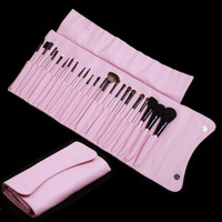 TOMTOP 23 PCS Professional Cosmetic Makeup Brush Set + Pink Pouch Bag