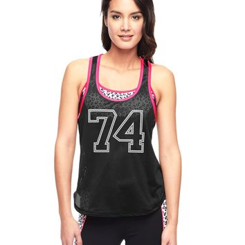 Pitch Black 74 Racerback Tank by Juicy Couture,
