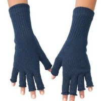 Amazon.com: American Apparel Unisex Wool Blend Fingerless Gloves -Navy: Clothing