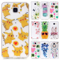 Clear Fruit TPU Phone Cases sFor Fundas Samsung Galaxy A3 2017 A310 A3100 Soft Pineapple Back Cover For Samsung A3 (6) A310F