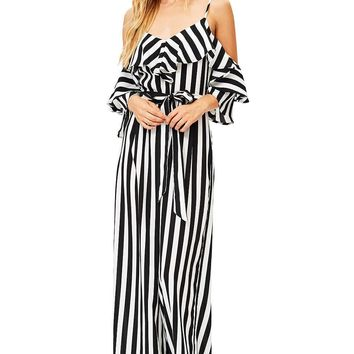 Hypnotic Stripes Jumpsuit