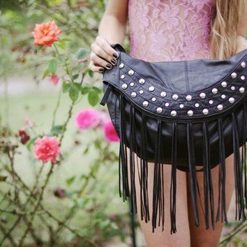 Rock n bag studded leather bag  //Made to order  //