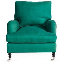 One Kings Lane - Kelly Wearstler: Modern Glamour - Kelly Green Linen Chair