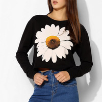 Truly Madly Deeply Daisy Cropped Pullover Sweatshirt - Urban Outfitters