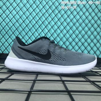 KUYOU N157 Nike Air Free 5.0 Flyknit Breathable Causal Running Shoes Sneaker Grey