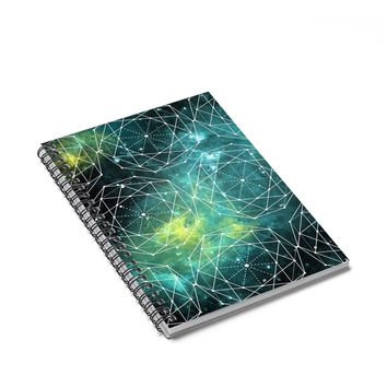 Outer Space Geometry - 120 Page Spiral Notebook