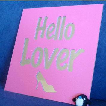ON SALE Hello Lover Wall Sign - Vinyl Decal on Mirror