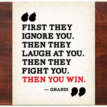 THEN YOU WIN Motivational 11x14 Art Print by FreshWordsMarket