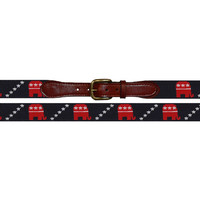 Republican Needlepoint Belt | Smathers & Branson