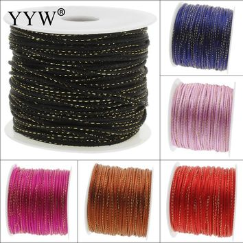 100Yards/Spool 2mm Nylon Cord Thread Cord Plastic String Strap DIY Rope Bead Necklace Shamballa Bracelet Jewelry Making