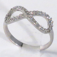 Infinity Ring- Sterling Silver and Sparkling CZ- The meaning is Forever! Original Design