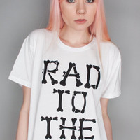 Petals and Peacocks Rad To The Bone Tee