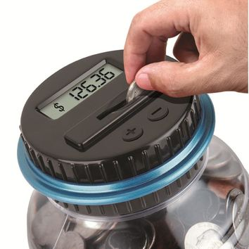 2.5L Piggy Bank Counter Coin Electronic Digital LCD Counting Coin Money Saving Box Jar Coins Storage Box For USD EURO GBP Money