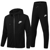 Nike Cardigan Jacket Coat Pants Trousers Set Two-Piece-12
