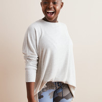 Aerie Plush Hometown Sweatshirt, Heather Frost