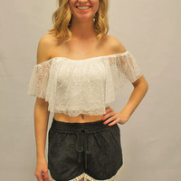 Black Lace Blouse Shorts