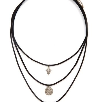Etched Charm Choker Set
