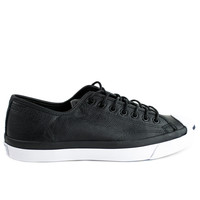 Converse Jack Purcell Ox Black Tumbled Leather