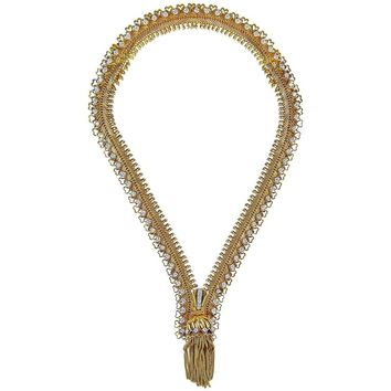 Van Cleef & Arpels Diamond Zip Necklace