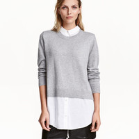 H&M Sweater with Collar $29.99