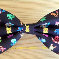 Charmander, Pikachu Bow Tie,Pokemon Bowtie,Mens Bow Tie,Boys Bow Tie,Wedding Bow Tie,Nerd Bow Tie,Geeky Chic,Bow Tie,Bow Ties Are Cool