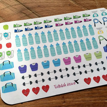Workout Planner Stickers | Perfect for Your Erin Condren Life Planner