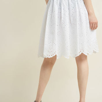 Eyelet in the Sun A-Line Skirt