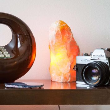 Orange Calcite Mountain Lamp