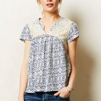 Lacepeek Top by Akemi + Kin Blue Motif