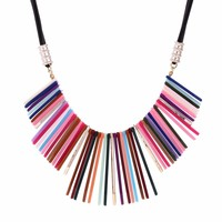 New Boho Jewelry Statement Chunky Choker Necklaces Resin Acrylic Beads Collar Bohemia Style Necklaces Women Best Gifts
