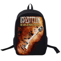 Led Zeppelin Song Remains the Same Backpack Teens College Adult Unisex School Bags msc 80's