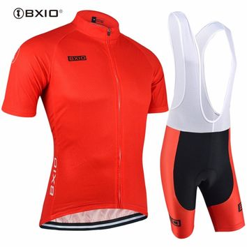 Top Rate Bxio Cycling Jersey Set Red Bike Jersey Men Breathable Cycle Jersey Quick Dry Ciclista Tour De France BX-0209R088