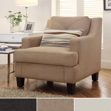 INSPIRE Q Elston Linen Sloped Track Arm Chair | Overstock.com Shopping - The Best Deals on Living Room Chairs