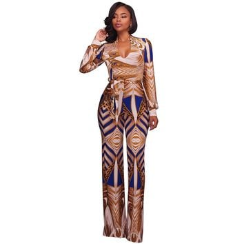 Sexy African Print Jumpsuit & Rompers