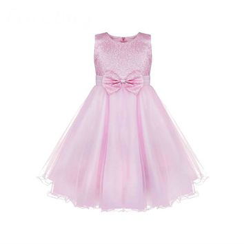 Kids Infant Girls Flower Lace Dress Floral Girl Dress Ball Gown Prom Formal Dress for Party and Wedding Bridesmaid