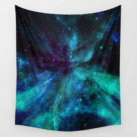 A Colorful Space Among The Stars Wall Tapestry by Minx267
