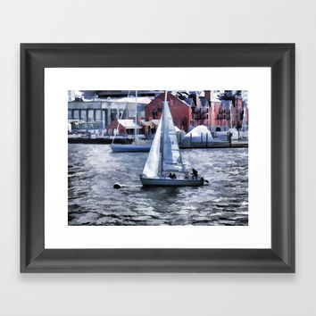 Sail boat Framed Art Print by lanjee