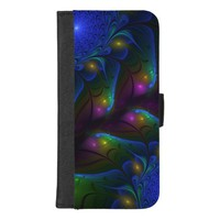 Colorful Luminous Abstract Modern Fractal Art iPhone 8/7 Plus Wallet Case