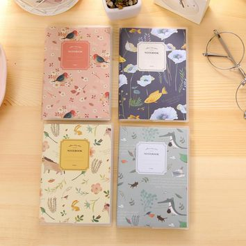 South Korea stationery Ling cute natural PVC gel package notepad creative small pocket book 13.4*9.5cm cartoon mini random color