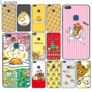 Lavaza Lovely gudetama Rilakkuma More Emoji Case for Huawei P20 Pro P9 P10 Plus P8 Mate 10 Lite Mini 2015 2016 2017 P smart