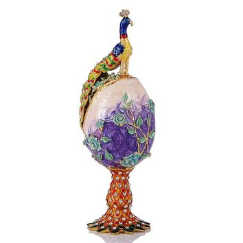 Faberge egg Style Decorative Jewelry Trinket Box for G