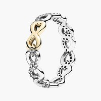 Women's PANDORA 'Infinite Love' Two-Tone Ring