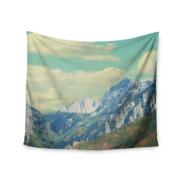 "Sylvia Coomes ""Utah Mountains"" Blue Nature Wall Tapestry"