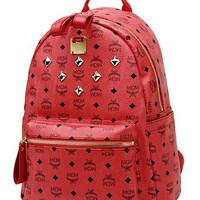 MCM STARK VISETOS BACKPACK K-POP IDOLS Justin Bieber Ludacris Choice MEDIUM Red on eBay!