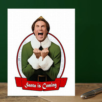 Elf Christmas Card. Funny Christmas Card. Christmas Card Funny. Handmade Christmas. Christmas Gifts. Cute Boyfriend. Will Ferrell Movie Card