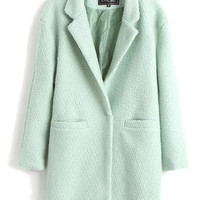 Minty Green Pea Coat